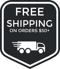 Free shipping available on all order $50 or more.