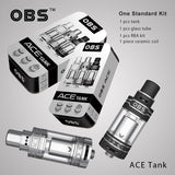 (CYBER SALE) OBS ACE Tank Atomizer (ceramic coil, side-filling)