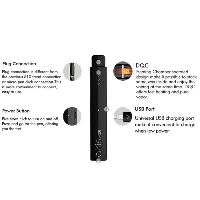 Airistech Airis MW Pod Mod 2-in-1 Vape Pen for Wax/Oil Concentrates (350mAh)