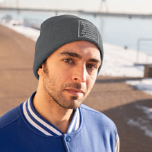 Load image into Gallery viewer, This Product Contains Nicotine Addictive Chemical Warning Beanie Hat