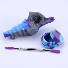 Load image into Gallery viewer, Conch Shell Multi-Color Silicone Hand Pipe w/ Glass Bowl