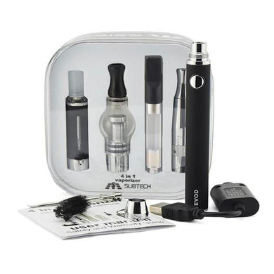 4-in-1 Multi-Vape Pen Kit for E-Liquid, Oil, Herb, Wax