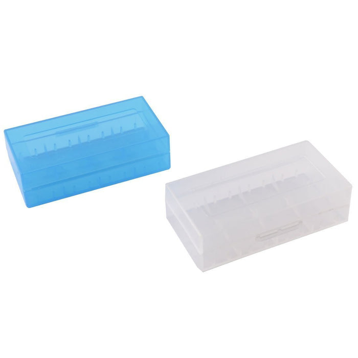 Plastic 18650 Battery Carrying Case Holds 2x 18650 or 4x 18350 Batteries