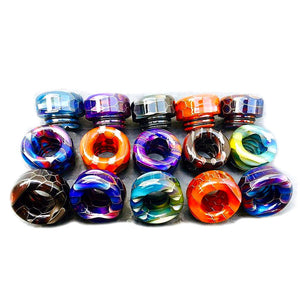 810 Drip Tip Acrylic Snake Skin Resin Wide Bore Mouthpiece