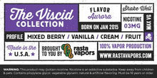 Load image into Gallery viewer, Aurora E-Liquid by Rasta Vapors (Mixed-Berry Vanilla Cream Fruit)