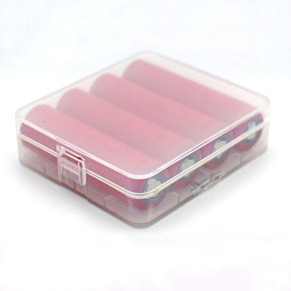 Plastic 18650 Battery Carrying Case Holds 4x 18650 Batteries