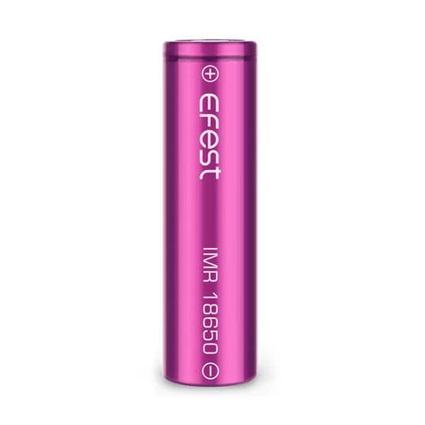 Efest Purple IMR 18650 2500mAh 35a Flat Top Li-MN Battery (2 pack + case)