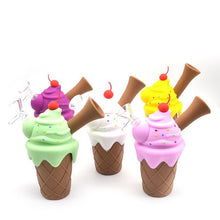 Load image into Gallery viewer, Ice Cream Cone Silicone Mini Bubbler Water Pipe with Glass Bowl Insert