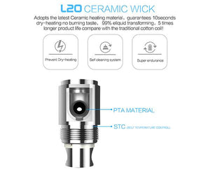 LSS L20 Replacement Ceramic Wick Coils (4 pack)