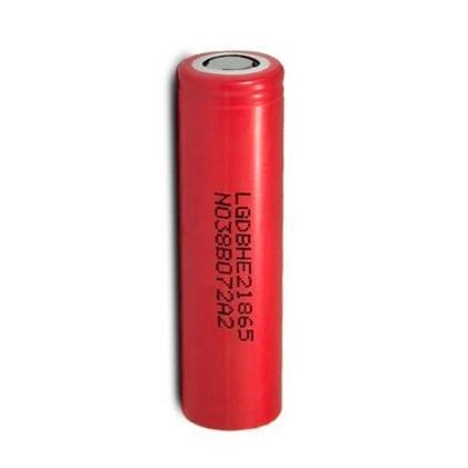 LG HE2 18650 Hybrid IMR/LiMn 2500mAh 20A Li-ion Battery - Red Flat Top
