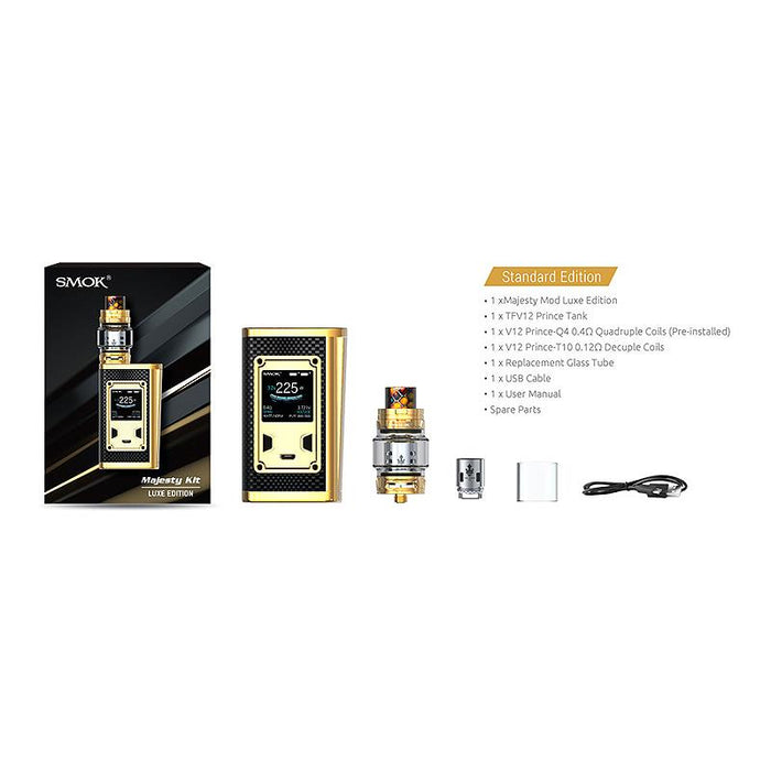 SMOK Majesty LUXE Edition Kit 225W TC Mod w/ TFV12 Prince Tank