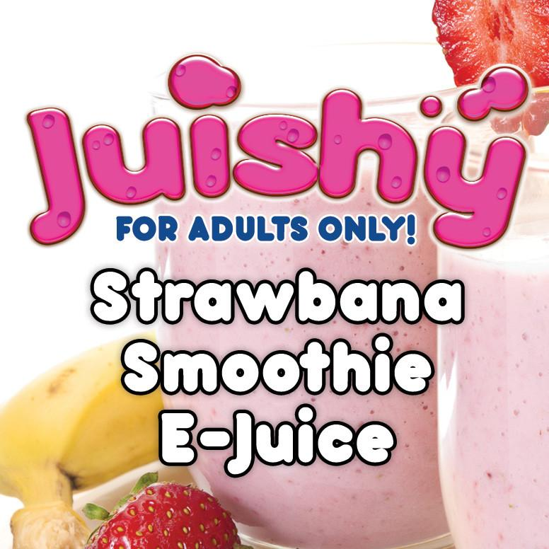 Strawbana Smoothie E-Liquid by Juishy E-Juice (100ml)