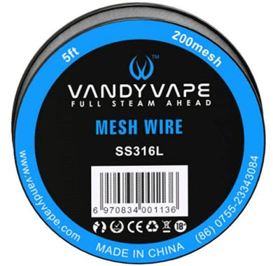 Vandy Vape SS316 200mesh for RDA/RBA/RTA (5ft)