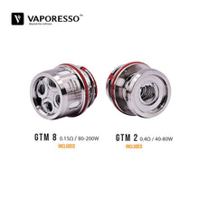 Load image into Gallery viewer, Vaporesso GTM Core Coils for Cascade Tank (3 Pack)