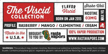 Load image into Gallery viewer, Viscid E-Liquid by Rasta Vapors (Raspberry Mango Clementine Cream)