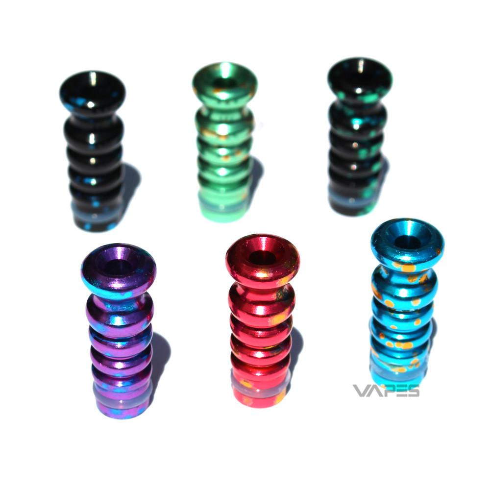 Anodized Splash Ribbed Drip Tips
