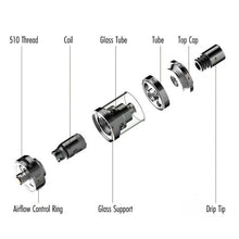 Load image into Gallery viewer, Artery Vapor 49er Atomizer Replacement Glass Tank Tube