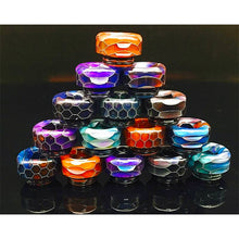 Load image into Gallery viewer, 810 Drip Tip Acrylic Snake Skin Resin Wide Bore Mouthpiece