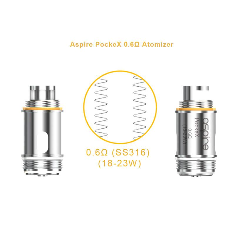 aspire pockex coils for nautilus x and pockex  5 pack   u2013 vapes
