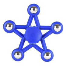 Load image into Gallery viewer, Five Pointed Star Fidget Spinner (7 colors available)