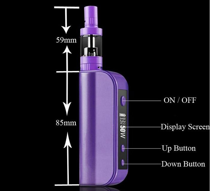 ECT eT50 50W Box Mod Starter Kit + Fog Mini Atomizer Tank