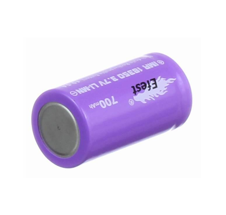 Efest 18350 IMR 700mAh 10.5A 3.7V LiMN Battery - Purple Flat Top
