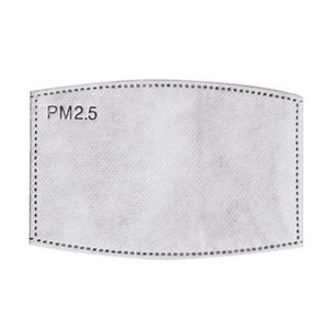 PM2.5 Disposable Face Mask Replacement 5 Layer Protective Filter Pad (20 pack)