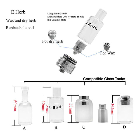 E-Herb Vaporizer Atomizer for Herb + Wax