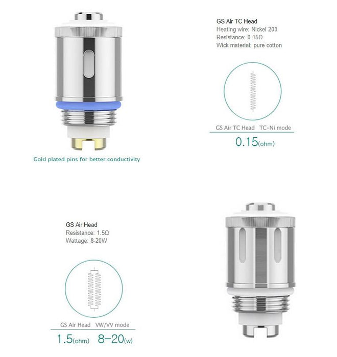 Eleaf GS Air Coil Atomizer Head Replacements (5 pack)