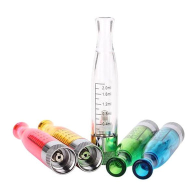 H2 Clearomizer Atomizer Tanks w/ Replaceable Coil (5-Pack)