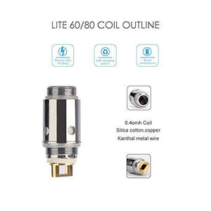 Jomo Lite 60 / Lite 80 Replacement Coils (5 pack)