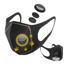 Load image into Gallery viewer, Face Mask PM2.5 Rated for Mouth, Nose w/ Breathing Valve