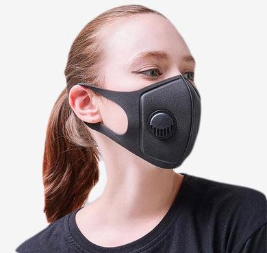 Face Mask PM2.5 Rated for Mouth, Nose w/ Breathing Valve