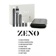 Load image into Gallery viewer, Mr. Dab Tech Zeno Quartz Dual Coil Wax Vape Pen Kit (650mAh)
