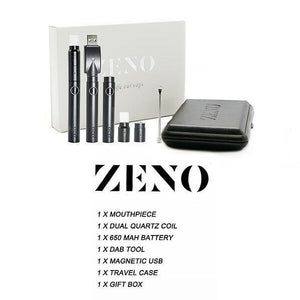 Mr. Dab Tech Zeno Quartz Dual Coil Wax Vape Pen Kit (650mAh)