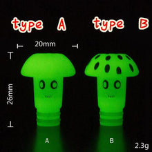 Load image into Gallery viewer, 510 Mushroom Glowing Drip Tip