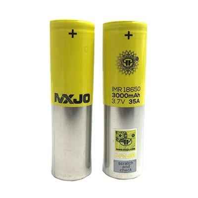 MXJO 18650 IMR 3000mAh 35A 3.7V Li-ion Battery - Flat Top (+free case)