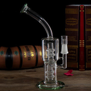Barrel Bubbler Glass PercolatorOil Rig Recycler