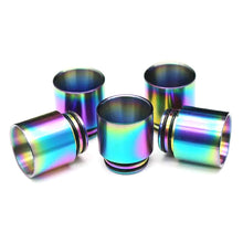Load image into Gallery viewer, 810 Rainbow Wide Bore Stainless Steel Drip Tip