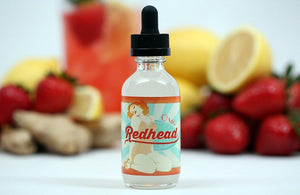 Redhead E-Liquid - Strawberry+Ginger+Lemonade E-Juice (60ml)