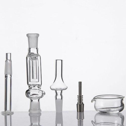 Oil Straw Glass Dab Rig and Titanium Nail