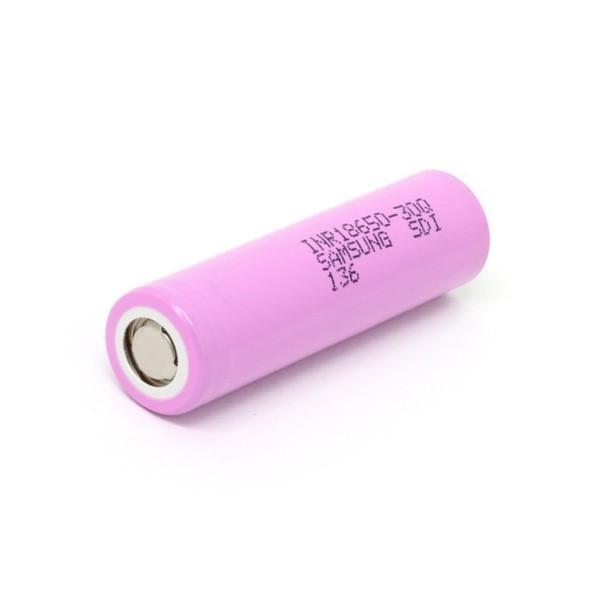 Samsung 30Q 18650 INR 3000mAh 15A 3.6V Li-ion Battery - Purple Flat Top