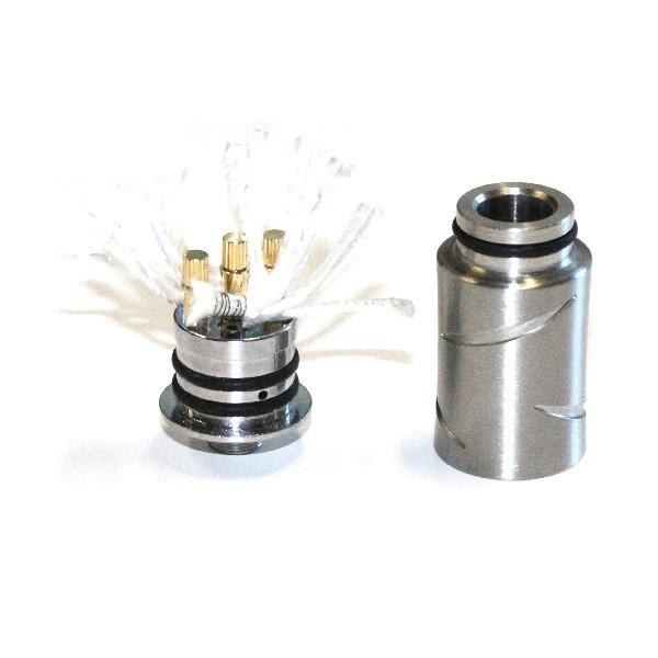 Dual coil in Profile RDA with out cotton. Wish the pic was ... |Scar Dual Coil Rda