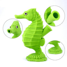 Load image into Gallery viewer, Seahorse Water Pipe Silicone Nonbreakable Rig