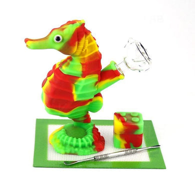 Seahorse Water Pipe Silicone Nonbreakable Rig