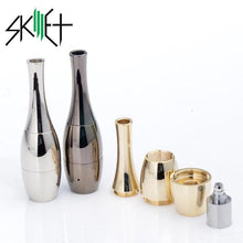 Load image into Gallery viewer, Skillet Vase Cannon Dual Coil Wax Atomizer (Wick, Quartz, Ceramic)