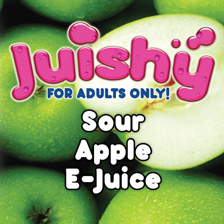 Sour Apple E-Liquid by Juishy E-Juice (100ml)