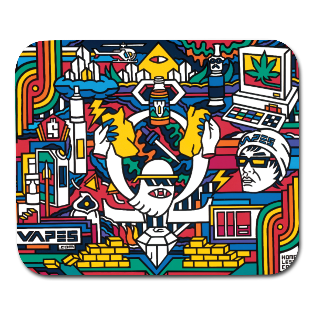 VAPES LIFE Dab Mat, I mean Mousepad - white