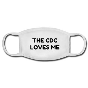 The CDC Loves Me Face Mask - white/white
