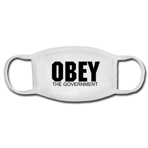 Obey The Government Face Mask - white/white